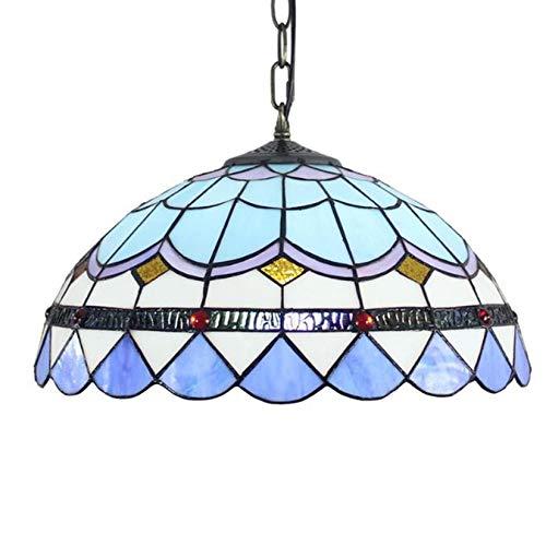 AIBOTY Tiffany Colgando Lámpara 1-Luz Tiffany Comedor Comedor Luz Colgante Iluminación Vintage...