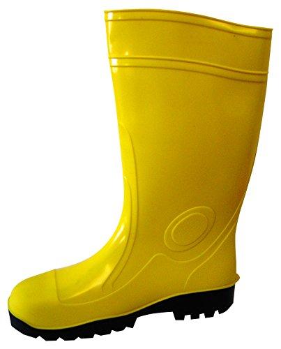 Veiligheidsschoen laarzen van PVC, met binnenvoering van tricot katoen. Stalen neus en tussenzool van staal antichiodo, A CE. Beschermingsklasse 'S5'.