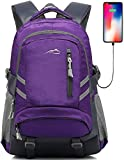 ProEtrade Travel Laptop Backpack, School College Computer Bag Business Anti Theft Durable Laptop Cool Backpack with USB Charging Port, Gifts for Men & Women Fits 15.6 Inch Notebook (Purple)