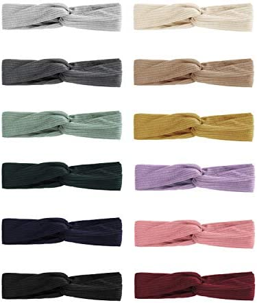 Knotted Headbands for Women and Girls Head Bands No Slip Fashion for Women and Girls 12 Pcs product image