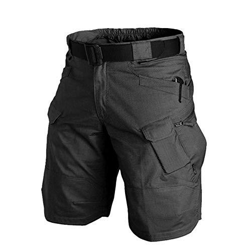 Huaheng heren Urban Militaire Cargo Shorts Katoen Outdoor Camo Korte Broek M Zwart