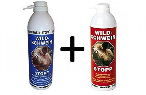 Hagopur Wildschwein-Stopp je 400 ml Blau und Rot