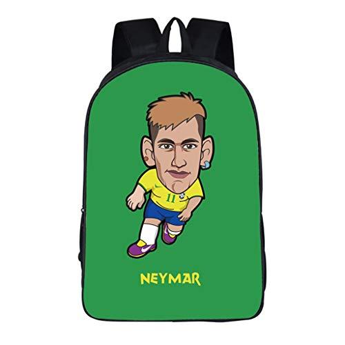 WHYDIANPUJunior Rucksack für Kinder 3D Neymar Dekomprimierung und Verlustreduzierung Grund- und Realschule männlichen und weiblichen Studenten mit großer Kapazität Stern Rucksackbeutel Federmäppchen