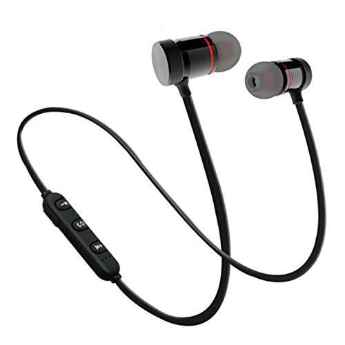 Bluetooth koptelefoon Sport nekband Magnetische draadloze headset Stereo oordopjes Muziek Metalen koptelefoon met microfoon voor mobiele telefoons