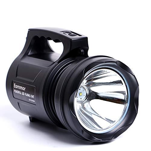 Eornmor Outdoor Handheld Portable Flashlight 6000 Lumens USB Rechargeable