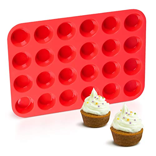Silicone Muffin Pan Mini 24 Cups Cupcake Pan