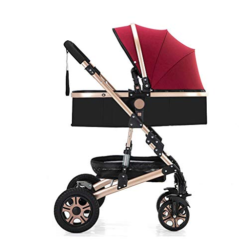 Portátil Cochecito plegable Amortiguador Carro de bebé Asiento for niños pequeños Soporte...