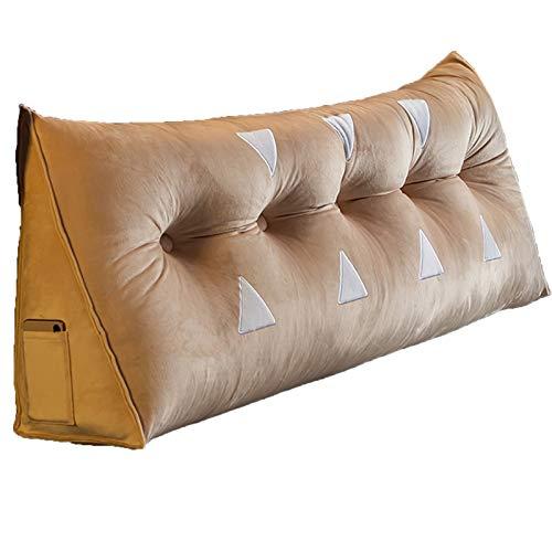 TUCY Dekoratives Samtkissen Deckt Rechteck-Rückenkissen Für Sofa-Schlafzimmer Mit Unsichtbarer Reißverschluss, Sofakissen Groß,couchkissen Kopfteil Bett Mit Seitlichen Taschen