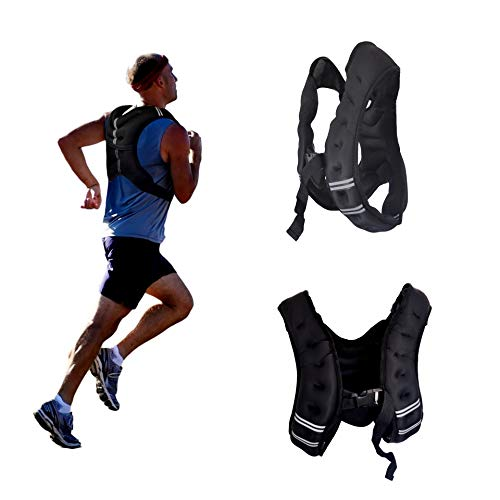 Men Women Neoprene Weighted Vest, 10, 15, 20 lbs Body Weight Equipment for Cardio Workout Fitness Training (20)