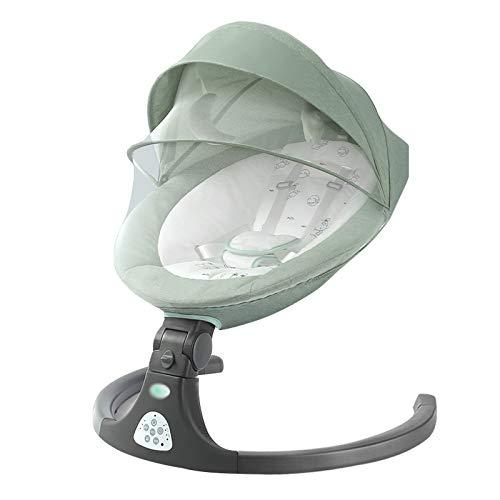 LLZH Automatische Babyschaukel, Tragbarer elektrischer Baby-Babywippe, 4 Einstellbare Rückenwinkel und 3...