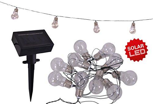 Näve Leuchten 5209531 Guirlande lumineuse solaire à LED Noir 420 x 5 x 11 cm