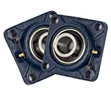 Jeremywell 2 Pieces- 1 inch 4 Bolts Pillow Block Flange Bearing,UCF205-16,Self-Alignment...