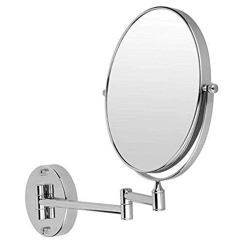 """3gdecor Makeup Mirror/Shaving Mirror/Bathroom Mirror with Magnifying Mirror & Wall Bracket with Adjustable Frame (Series:- Silver)""""
