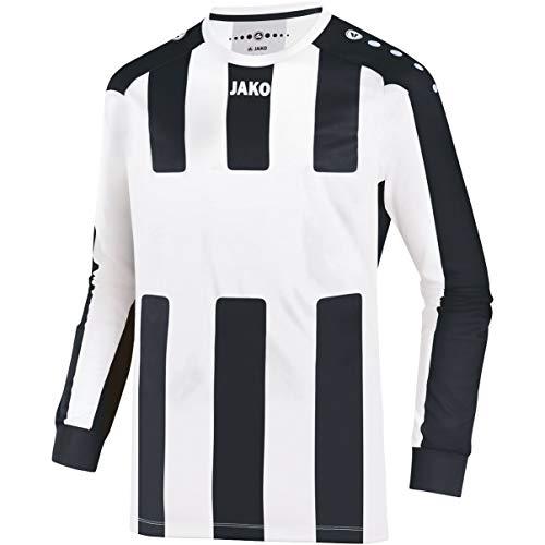 JAKO Kinder Fußballtrikots LA Trikot Milan, weiß/schwarz, 152