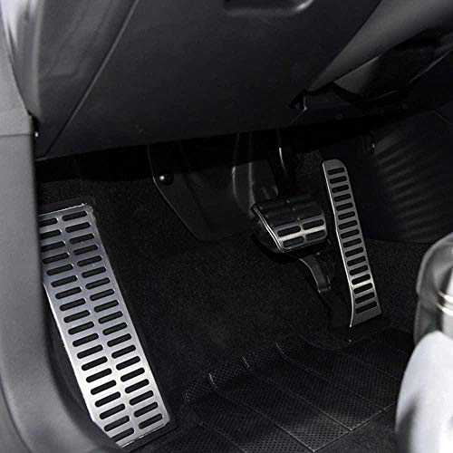 HZHAOWEI Accesorios de Coche de Pedal de Acero Inoxidable para Volkswagen Passat B6 B7 CC para Skoda Superb AT/MT-MT