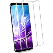 [2-Pack] S9 Plus Screen Protector, [9H Hardness][Anti-Fingerprint][Ultra-Clear][Bubble Free] Tempered Glass Screen Protector Compatible with Samsung Galaxy S9 Plus