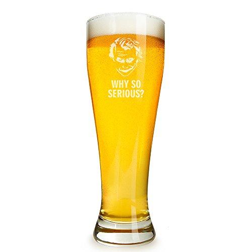 Joker - Why So Serious? Engraved 16 ounce Beer Glass Pilsner