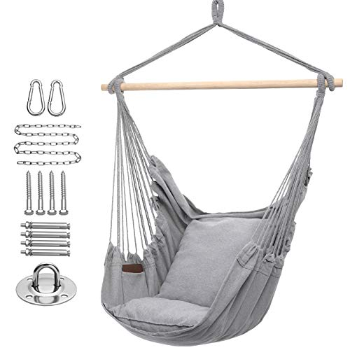 Y- STOP Hammock Chair Hanging Rope Swing, Max 320...