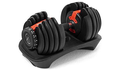 WebFit Pesi Fitness a carico variabile Nero e Rosso - Dumbbell – Alta qualità da 2,5 kg Fino a 24 kg – Pesistica per Allenamento da casa