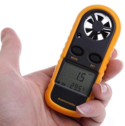 Exing Geschwindigkeitsanemometer,GM816 Mini Digital Anemometer Windgeschwindigkeit Temperatur Tester w/LCD Hintergrundbeleuchtung