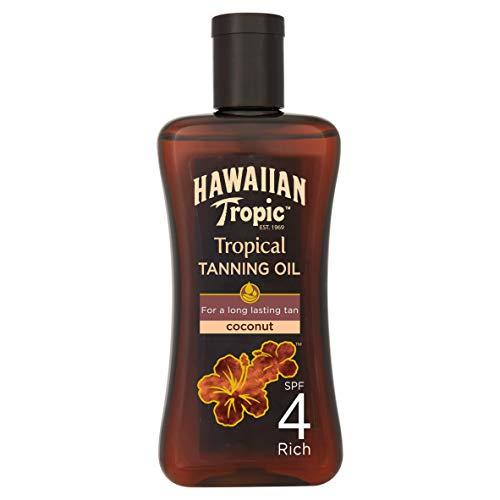 Hawaiian Tropic Tropical Tanning Oil Coconut Sonnenöl LSF 4, 200 ml, 1 St