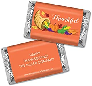 Thanksgiving Candy Personalized Hershey's Miniatures Chocolate (60 Count)