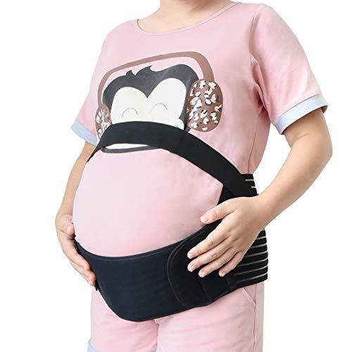 YeVhear Schwangerschafts-Unterstützung, Bauchgurt, Bauchbandage, Schwarz, Größe M