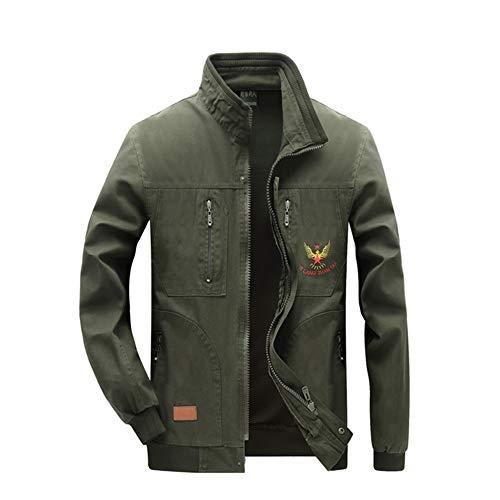 YJKJ Welding Coat, Welding Jacket, ArmyGreen Wearable Anti-Scalding Flame Retardant Strong and Sturdy,B,175