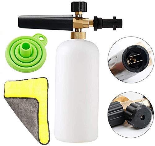 ABILL Foam Cannon Snow Foam Lance Adjustable 1L Bottle Foamer Spray Gun Nozzle Injector Soap Dispenser for Karcher K Series K2 K3 K4 K5 K6 K7 Pressure Washer
