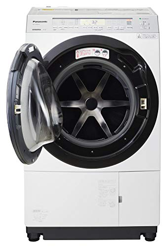 パナソニックななめドラム洗濯乾燥機11kg左開き液体洗剤・柔軟剤自動投入クリスタルホワイトNA-VX800AL-W