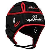 OPTIMUM Hedweb Classic Couvre-Casque de Protection Tribal Senior Unisexe-Noir/Rouge, Petit Unisex-Adult