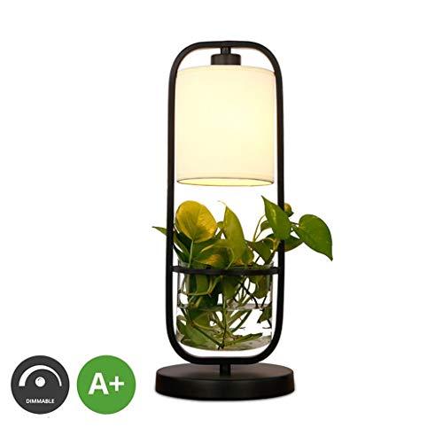 Amerikaanse tafellamp bloempot decoratie E27 licht houder bureaulamp slaapkamer nacht ijzeren plug-in persoonlijkheid stof lampenkap ruimte gang decoratie verlichting leven