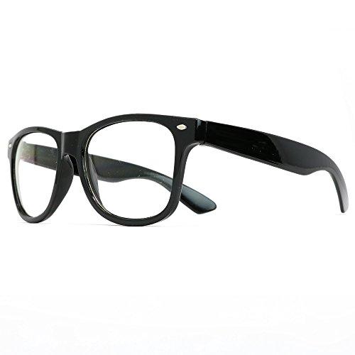 Skeleteen Retro Nerd Costume Glasses - Oversized Black Hipster Eyeglasses...