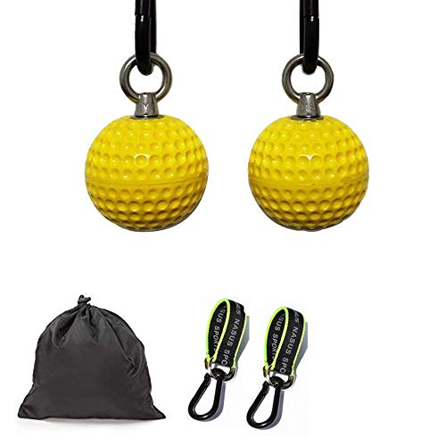 Climbing Pull Up Power Ball Hold Grips Climbing Solid Training Cannonball Bomb Ball for Straps for Finger, Forearm, Biceps, Back Muscles-Free Carry Bag Included Gym Equipment for Home (Normal)