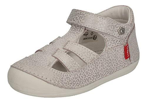 Kickers SUSHY 784840-10-32 Blanc Leopard - Zapatos para bebé, color Marfil, talla 23 EU