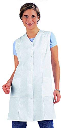 clinicfashion 10212028 Langkasack ohne Arm, weiß, für Damen, Mischgewebe, Größe 50