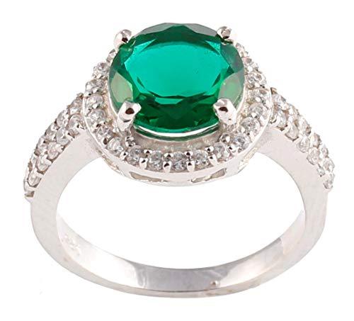 Anillo vintage de plata de ley 925 con circonio cúbico, anillo de plata de ley 925 para mujeres/niña de deshierbe anillo regalo para ella.