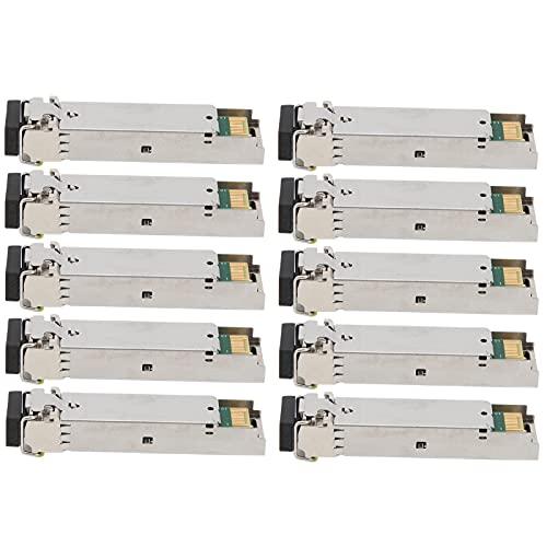 Shanrya Gigabit Module, Gigabit Single Fiber Practical for Optical Fiber Transceivers for Routers