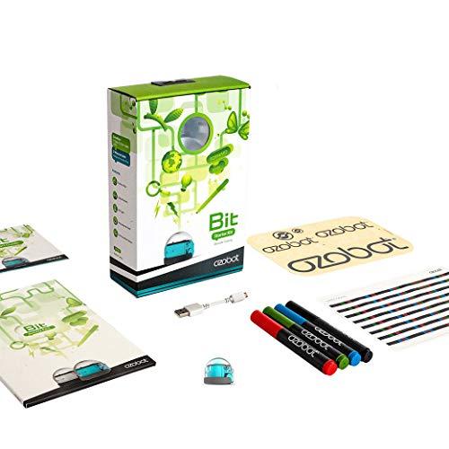 Ozobot Bit, Robot de codificación, paquete de inicio, color Azul (Cool Blue)