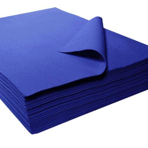 Feltro sintetico a taglio, blu, circa 22 x 30 cm - 25 pezzi