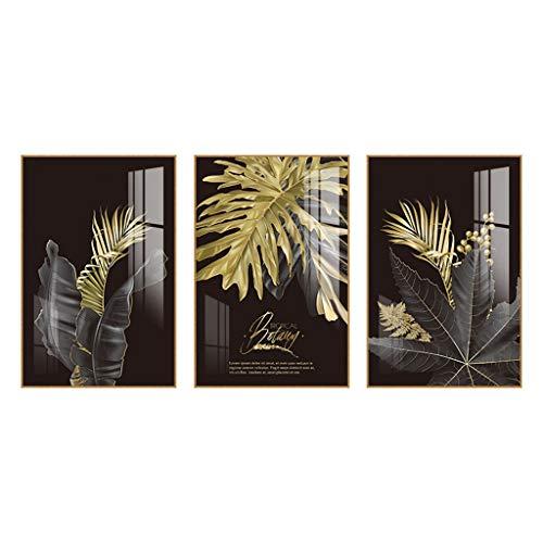 NYKK Carteles de decoración Sofá Fondo de la Pared de la Sala tríptico Pintura Moderna Minimalista Decorativo Arte de Pared (Color : A, Size : 60 * 90)