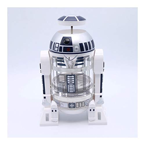 YANODA 960ml Home Mini Star Wars Manuelle Kaffeemaschine French Pressed Coffee Pot (Color : Silver)