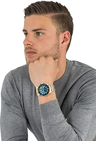 Invicta Men's Pro Diver 43mm Stainless Steel Quartz Watch, Two Tone/Blue (Model: 30021) WeeklyReviewer