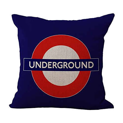 WEIANG British Style Cotton Linen Home Cushions Cover...