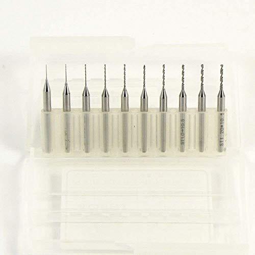 10micro-punte per trapano, in carburo, da 0,3a 1,2mm