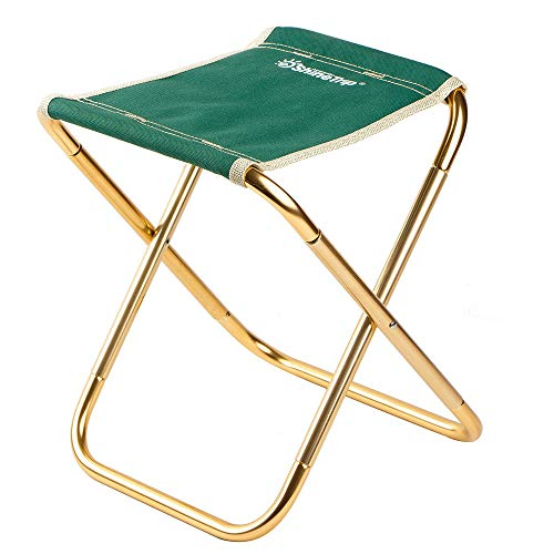Axiba Mini Portable Folding Stool Ultralight Camping Folding Chair Outdoor Fold Chair for Camping Fishing Travel Beach (Green)
