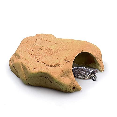 Cocooneo Hábitat de ocultación Reptiles Tortuga terraza Lagarto Peces y camarones escondite Agujero simulación paisajismo decoración-8