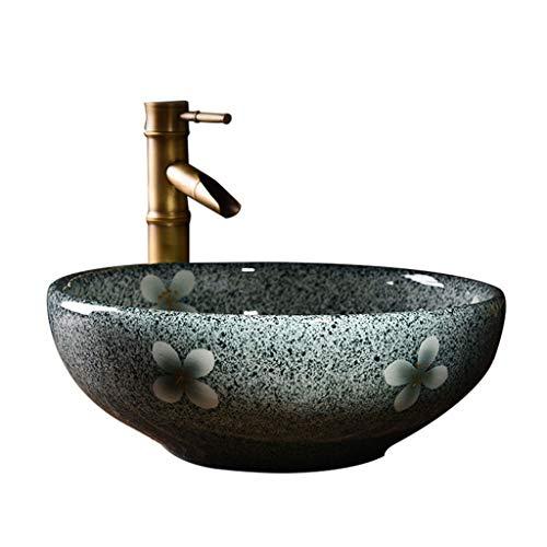 LYM keramische wastafel hotel huishouden badkamer counter-wastafel (zonder kraan) -41x15cm