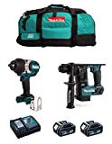 MAKITA Kit MK215 (Avvitatore ad Impulsi DTW1002 + Tassellatore DHR171 + 2 Batterie 5,0 Ah + Caricabatterie + LXT600)