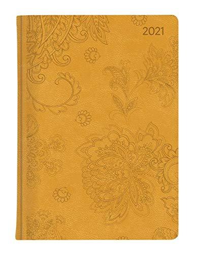 Ladytimer Grande Deluxe Honey 2021 - Taschen-Kalender A5 (15x21 cm) - Tucson Einband - Motivprägung Blüten - Weekly - 128 Seiten - Alpha Edition